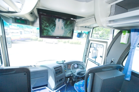 LED TV di Bus